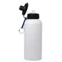 Picture of 20 oz White Aluminum Water Bottle