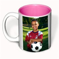 Picture of 11 oz White Ceramic Mug - Pink Interior