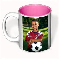 Picture of 11 oz White Ceramic Mug - Pink Interior
