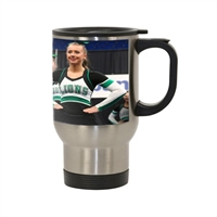 Picture of 14 oz White Stainless Steel Travel Mug